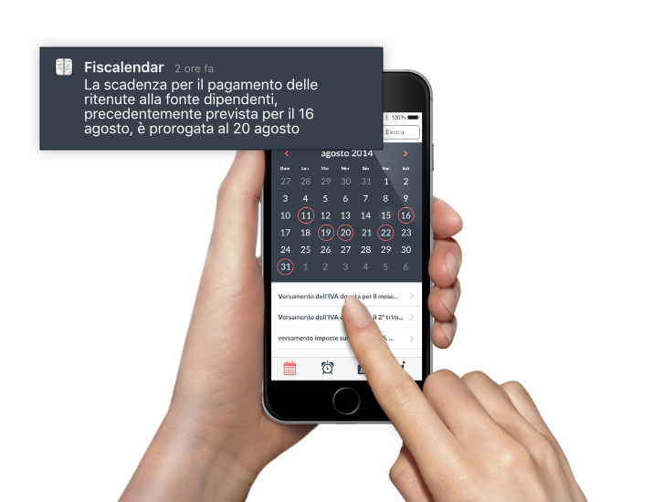 Muvobit Notifiche Fiscalendar